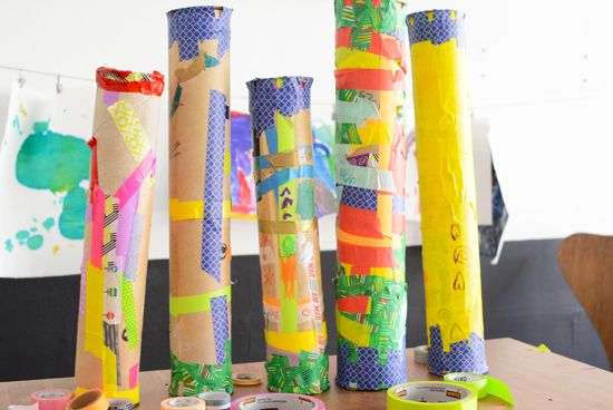 Rain sticks rain and washi on pinterest for Easy rain stick craft