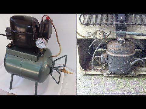 How To Make Homemade Silent Air Compressor From Old Refrigerator S