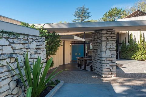 Charlton Heston's Stunning Modern Time Capsule House For Sale For First Time Ever - Curbed LA