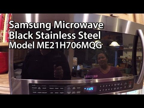 Samsung Liance Me21h706mqg 2 1 Cu Ft Capacity Black Stainless Steel Series Microwave Oven Ac On The Web Microwaves Pinterest
