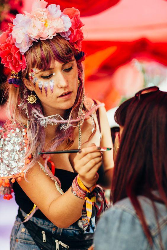 Lovebox 2015 festival makeup