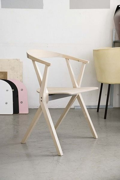 moderner Stuhl aus Holz B CHAIR BD Barcelona Design