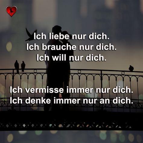 Einfach Nur Du Romantische Spruche Liebe Spruch Schone Spruche Liebe