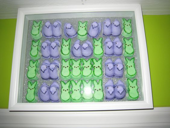 Michael s purple peep chicks green peep bunnies tulip fabric paint