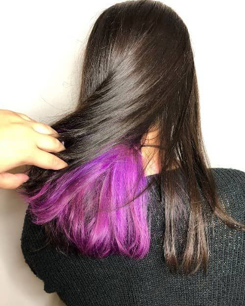 31 Best Underneath Hair Color Ideas Ultimate Guide In 2020 Hair Color Underneath Under Hair Color Hair Color For Black Hair