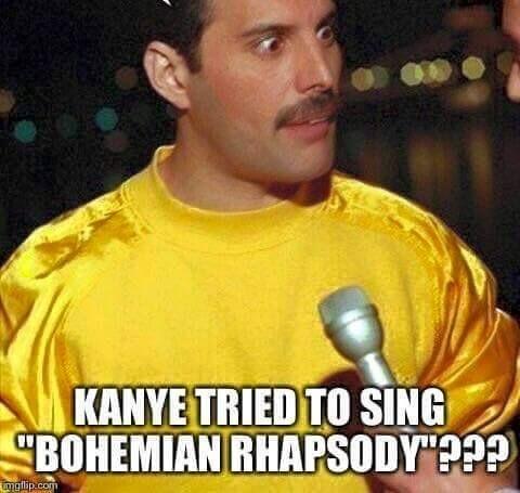 Freddie Shocked At Kanye West Singing Queen Meme Queen Love Queen Freddie Mercury