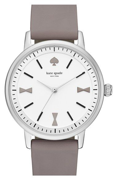 Free shipping and returns on kate spade new york 'crosby' silicone strap watch, 34mm at Nordstrom.com. A signature spade logo stands in for the 12 o'clock index on an elegant, minimalist wristwatch styled with a numberless mother-of-pearl dial and a clean silicone strap.