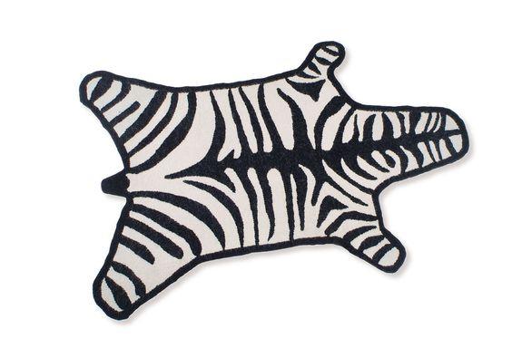 VON WILMOWSKY Interior Design - JONATHAN ADLER Zebra Rug Designer Teppich Zebra Wollteppich