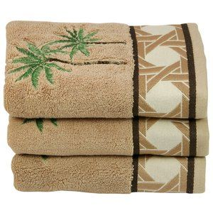 3p Better Homes And Gardens Palm Decorative Towel 2 Bath 1 Hand Towel Ebay