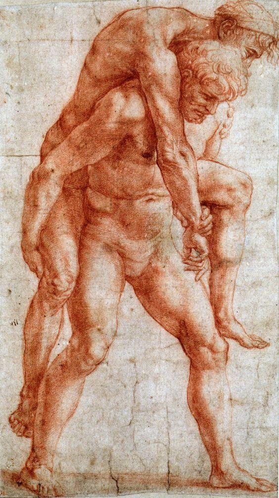 Raphael drawing • Raffaello Sanzio da Urbino (b. 1483 Mar28 or Apr6, d. 1520 Apr6) - Italian painter and architect of the High Renaissance - forms trinity of great masters with contemporaries da Vinci + Michelangelo • http://www.wikiwand.com/en/Raphael