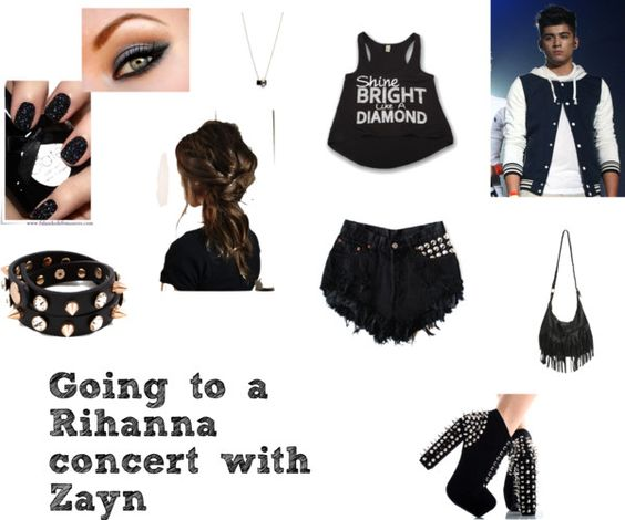 """""""Going to a Rihanna concert with Zayn."""" by hipstah1 ❤ liked on Polyvore"""