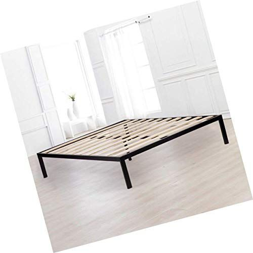 Bed Frame Queen Size Mattress Foundation Wooden Supportive Slats