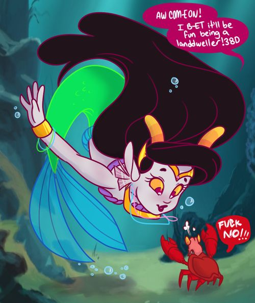 Aww The little mermaid homestuck crossover