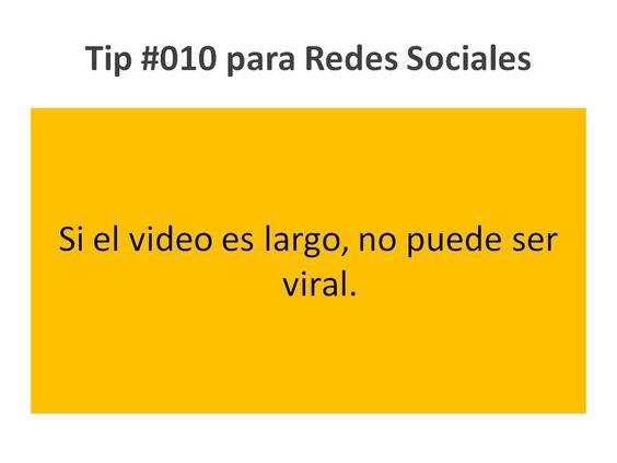 Nunca hagas un video de más de 1:30 si quieres que sea viral. www.mediapressconsulting.com