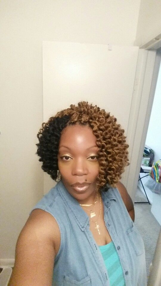 Crochet Hair Untwisted : Havana mambo twist. Untwisted after installation.