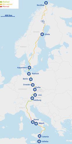 Europa podrá ser recorrida en bici gracias a una red de ciclovías que conectará 43 países. - ciclografias