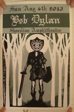 Bob Dylan Aug 15 2013 Shoreline Amphitheatre Poster Concert Gig