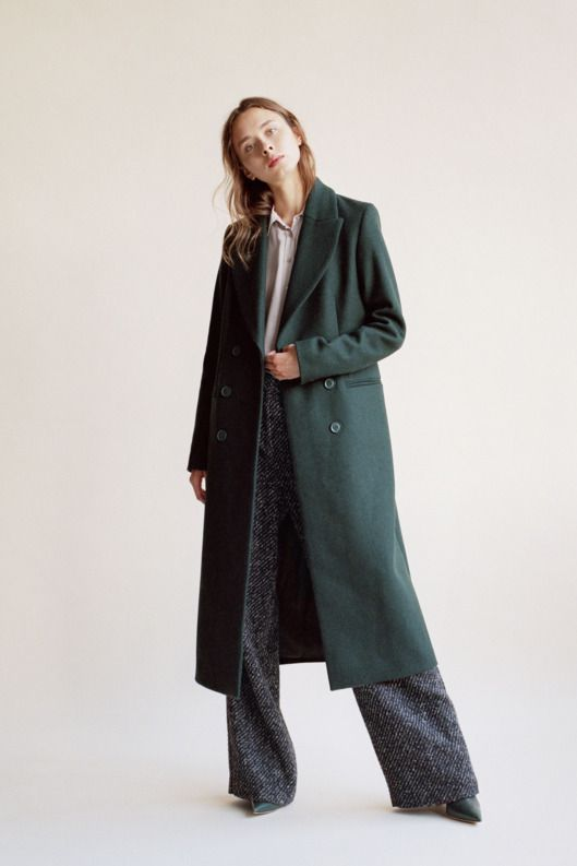 This Theory pair is made with thick tweed, especially important during January when your legs feel like two blocks of ice. Tailor them so they skim the tops of your shoes — this gives the pants the right amount of slouch without looking sloppy.  Then add a tucked-in silk blouse, and balance out the volume of the pants with a long minimalist coat; a shorter style doesn't have that clean, uninterrupted line. Throw on some pointed-toe flats or heels, and you're good to face another workweek.
