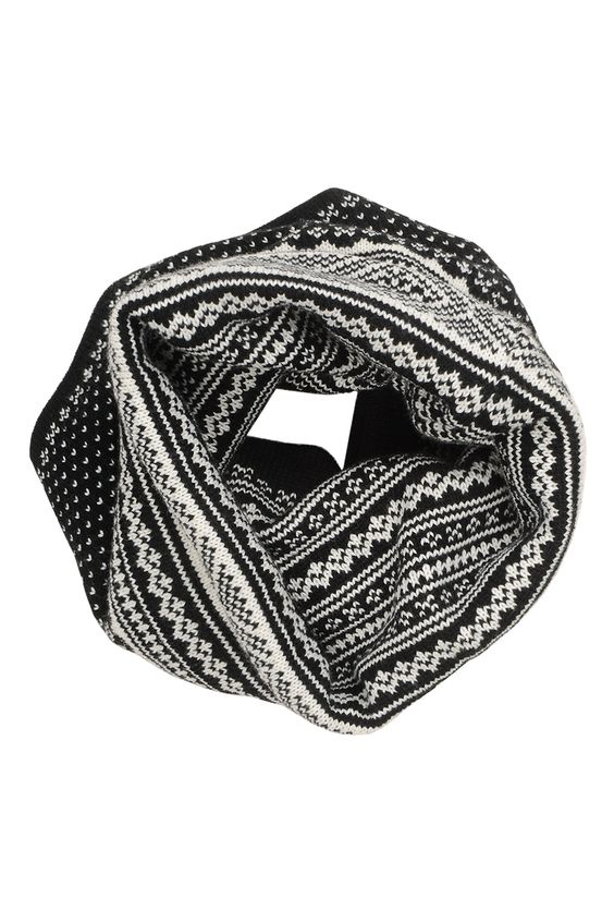 Foulard tube à motifs hivernaux / Fairisle tunnel scarf www.jacob.ca @Boutique JACOB et #CADEAUXJACOB