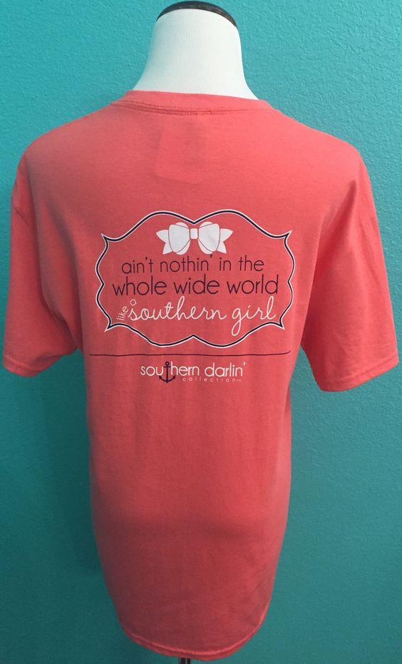 Coral Southern Darlin' T-Shirt