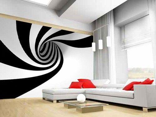 Bastano due colori, bianco e nero e giocare con la prospettiva per ...