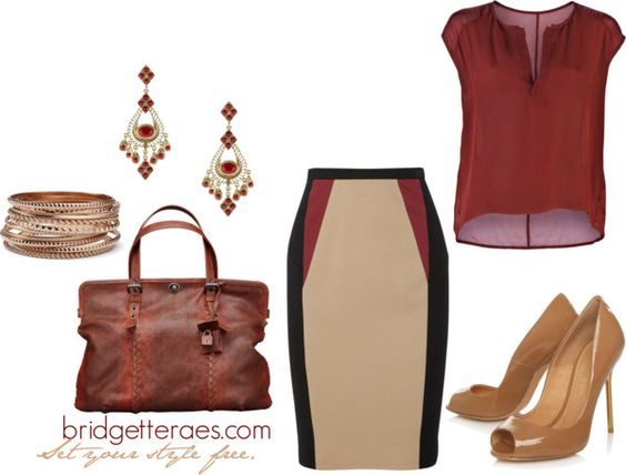 Caramel Chic, created by bridgetteraes on Polyvore