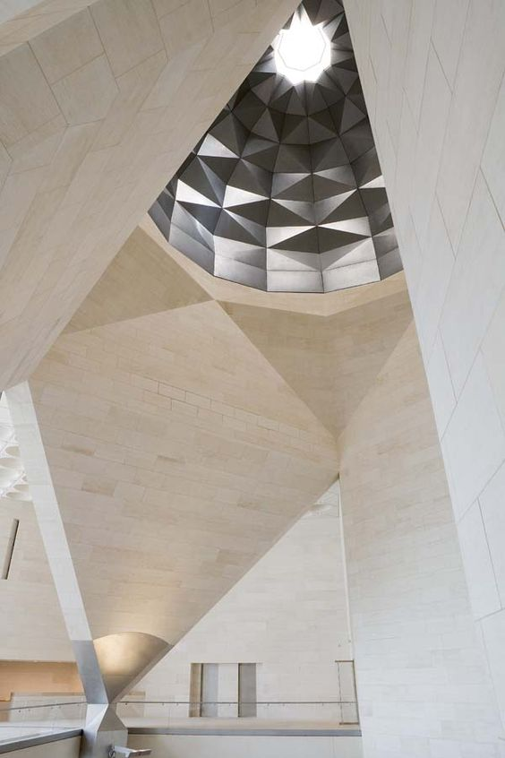 Detail of the Museum of Islamic Art, Doha by I.M.Pei.: