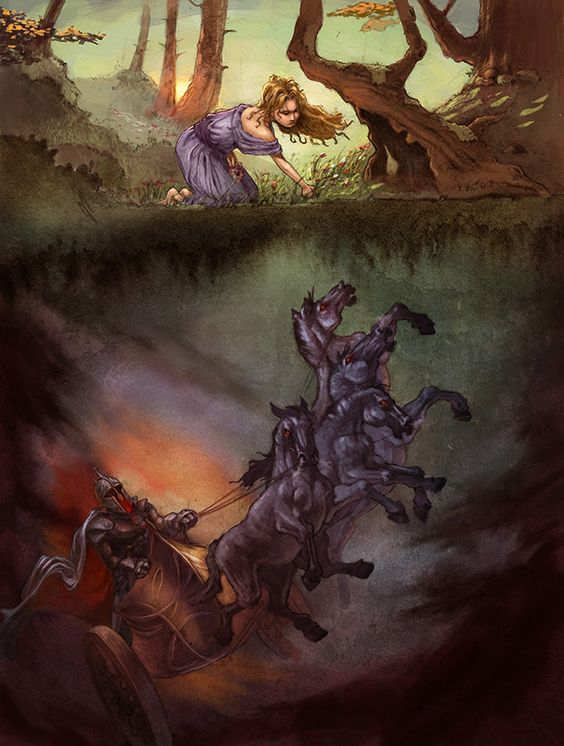 The Abduction of Persephone, art by John Rocco