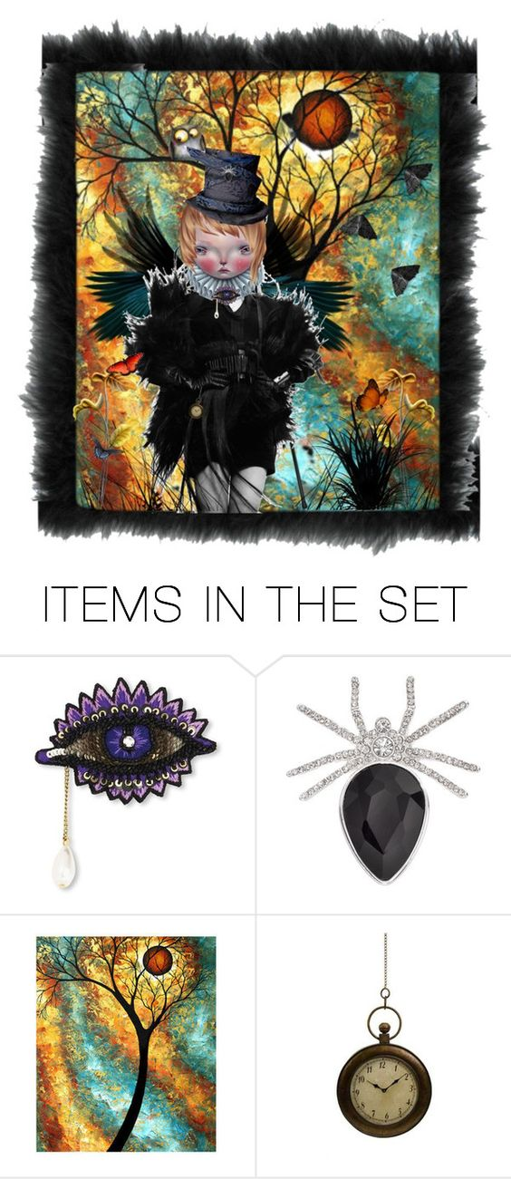 """""""wicked wings"""" by donna-france-davis ❤ liked on Polyvore featuring art"""