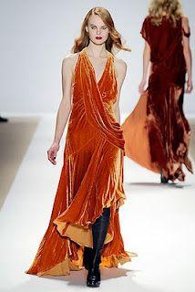 orange velvet dress