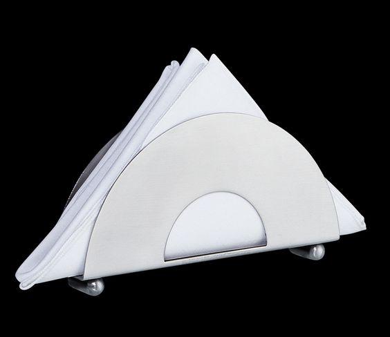 Cilio Serviettenständer, Edelstahl matt, 15 x 8 x 3 cm