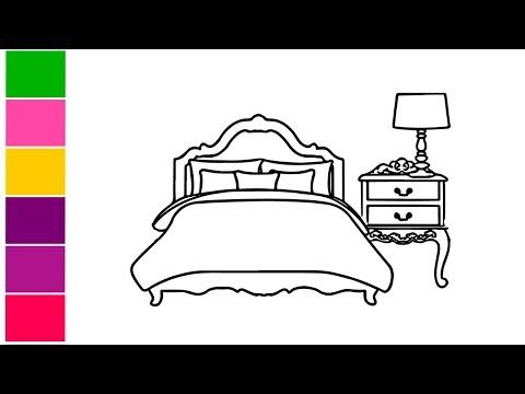 How To Draw A Bedroom Step By Stepeasy Draw Very Easy Art