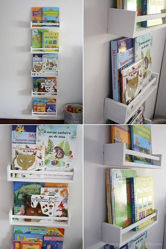 Prateleiras para livros em quarto infantil  Kids rooms, Montessori and Stati