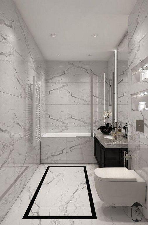 29 Awesome Interior Designs With Using Marble Small Bathroom Bathroom Tub Shower Bathroom Design