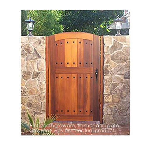 Pacific gate works hacienda side yard gate costco online for Garden gate designs wood
