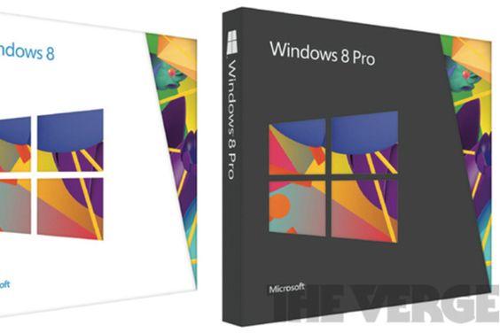 Las cajas físicas del nuevo Windows 8
