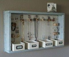 Great way to organize your jewelry