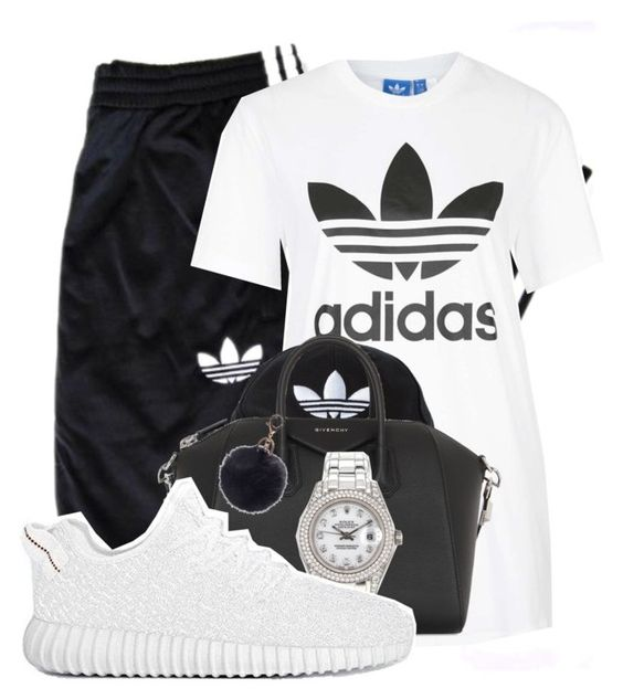 """""""ADIDAS"""" by alexanderbianca ❤ liked on Polyvore featuring adidas Originals, adidas, Givenchy and Rolex"""