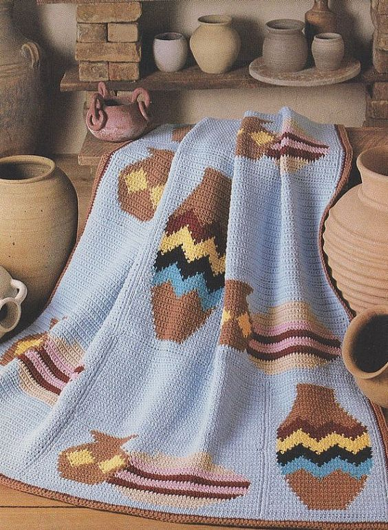 Crochet Pattern Southwestern Afghan : Afghan crochet patterns, Afghan crochet and Pottery on ...
