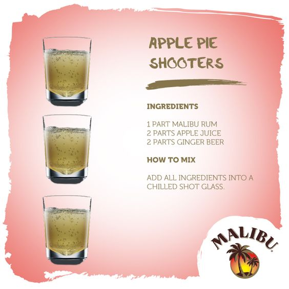 Malibu Apple Pie Shooters double up both as an amazing cocktail and dessert!