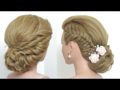 Easy Updo Tutorial Bridal Hairstyles For Long Medium Hair Youtube Medium Hair Styles Long Hair Styles Hair Tutorials For Medium Hair