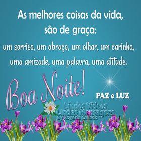 Paz E Luz Com Imagens Mensagem De Boa Noite Frases De Boa