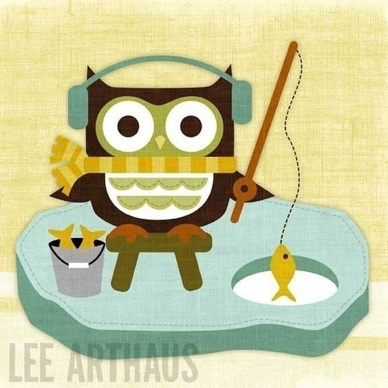 Retro owl fishing owl me pinterest owl fishing and for Owl fish store