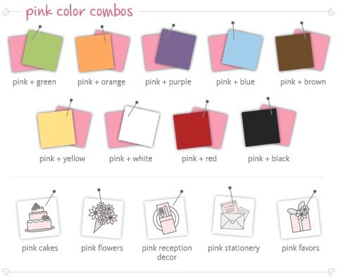 Paleta de colores para bodas colors pinterest bodas for Paleta de colores pared