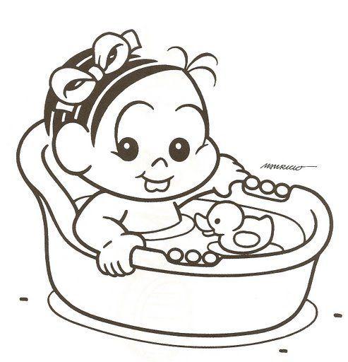 Turma Da Monica Baby Monica Para Colorir Desenho Da Monica