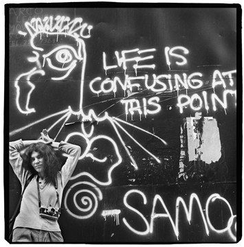 Basquiat-streets of Manhattan http://davedevine.files.wordpress.com/2011/11/samo-confusedlife.jpg