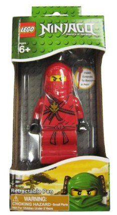 LEGO Ninjago Retractable Pen - Red by MZB Imagination. $12.25. This ball point LEGO Ninjago Retractable Pen - Red is a great gift for any LEGO fan! The head extends to become a pen. Includes body dock for easy display and pen storage. Collect them all.