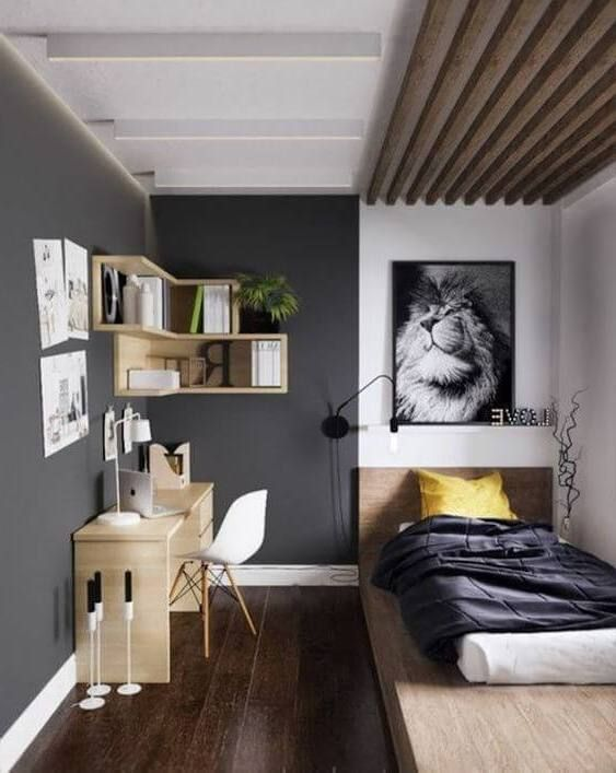 60 Awesome Bedroom Ideas For Small Spaces Sharp Aspirant Small Apartment Bedrooms Modern Bedroom Design Small Modern Bedroom