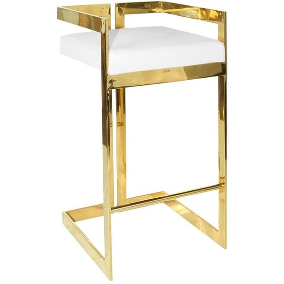 worlds away hearst white brass bar stool 470 aud liked on polyvore featuring home furniture stools barstools brass stool white barstools brass furniture