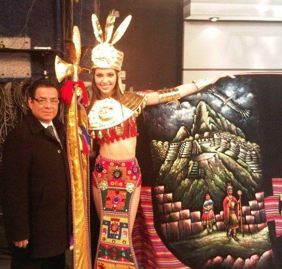 Miss Peru Universe 2011 Natalie Vertiz Inca Warrior Princess for a National Costume.